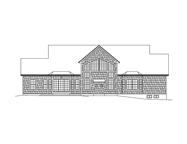 Country Southern House Plan 95978 Rear Elevation