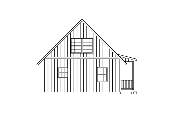 Country Traditional House Plan 95986 Rear Elevation