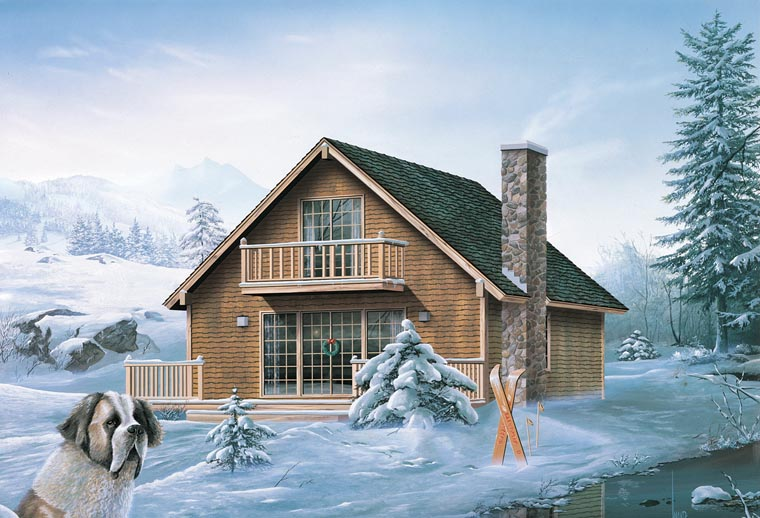 Cabin Contemporary Traditional House Plan 95993 Elevation