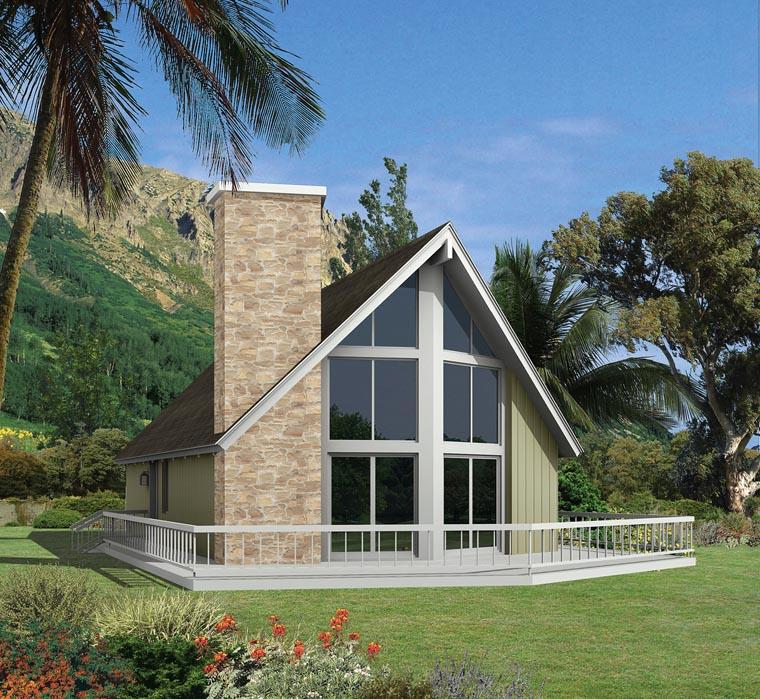 A-Frame Contemporary House Plan 95995 Elevation