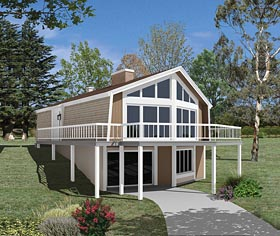 Contemporary House Plan 95997 Elevation