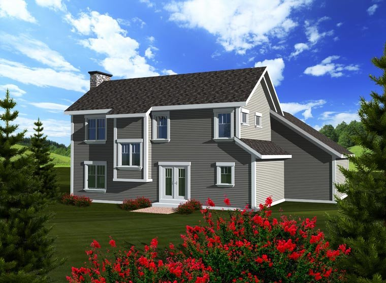 House Plan 96101 Rear Elevation