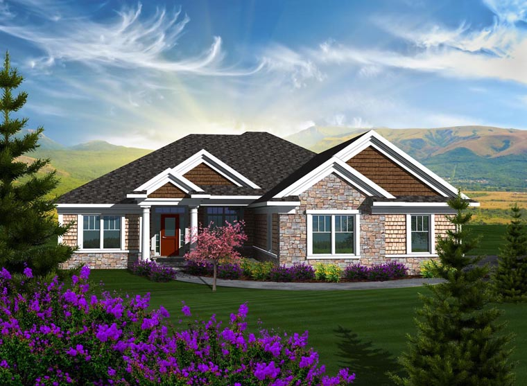 Ranch House Plan 96105 Elevation