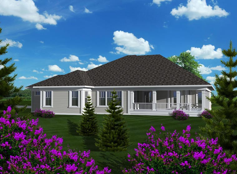 Ranch House Plan 96105 Rear Elevation