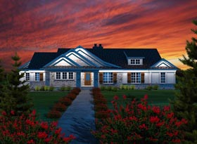 Ranch House Plan 96107 Elevation