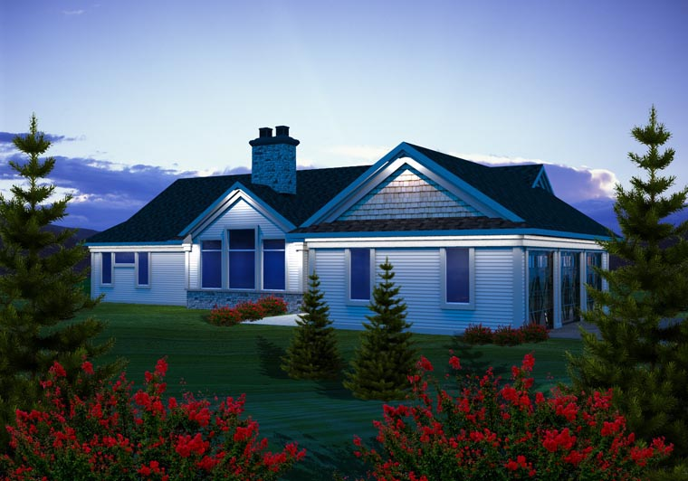 Ranch House Plan 96107 Rear Elevation