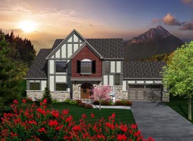 House Plan 96108 with 3 Beds, 3 Baths, 2 Car Garage Elevation