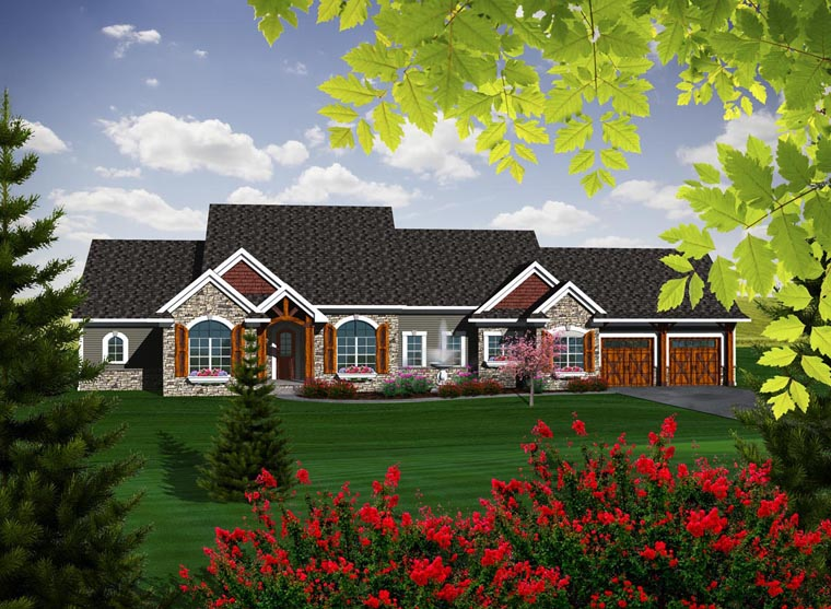 Ranch House Plan 96109 Elevation