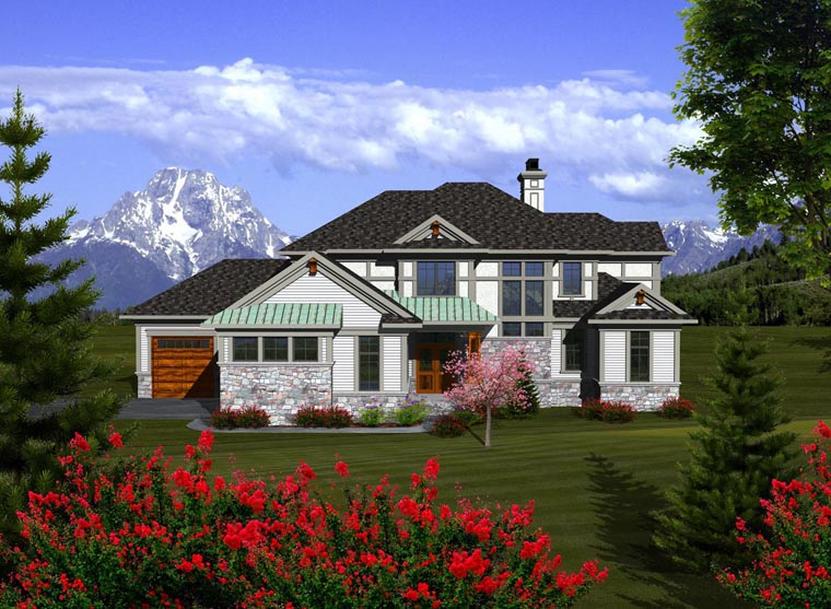 House Plan 96110 Elevation
