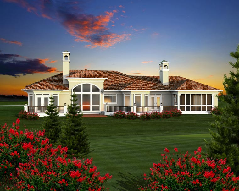 Ranch House Plan 96111 Rear Elevation