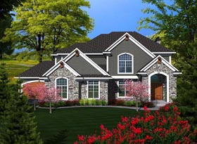 House Plan 96112 Elevation