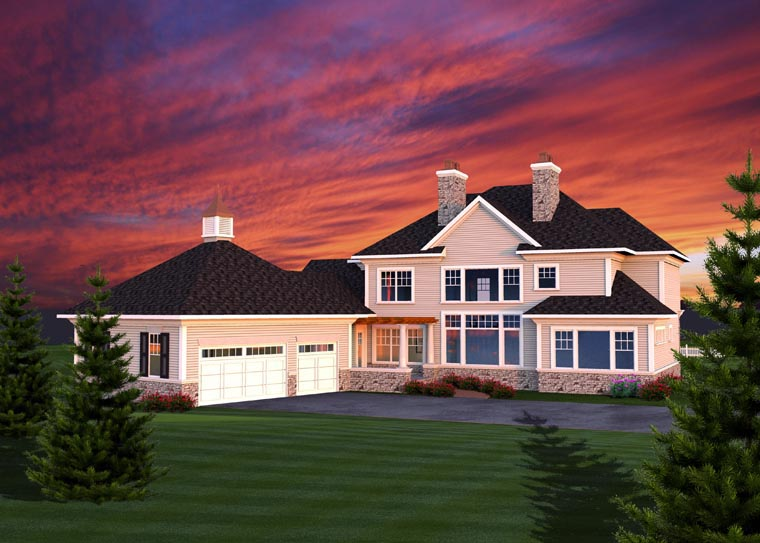 House Plan 96113 Rear Elevation