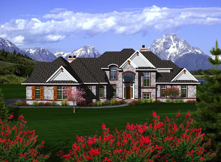 House Plan 96114 Elevation