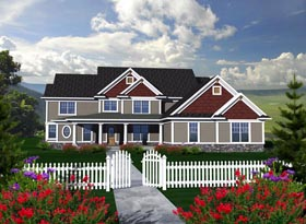 House Plan 96117 Elevation