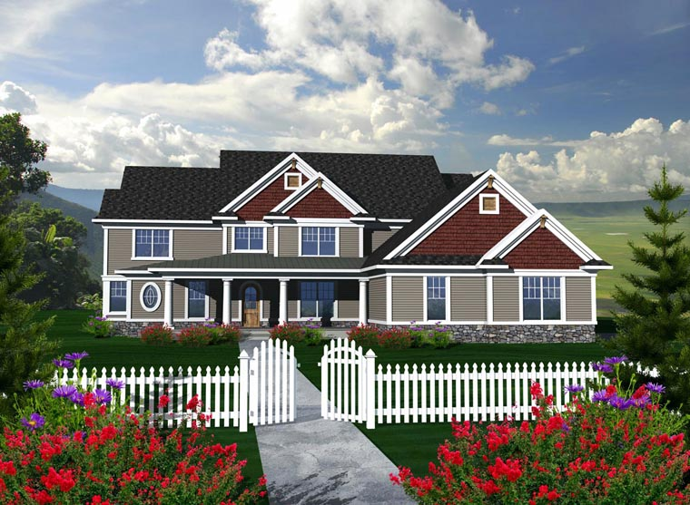 House Plan 96117 Elevation