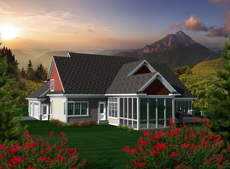 House Plan 96117 Rear Elevation