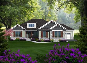 Ranch House Plan 96118 Elevation