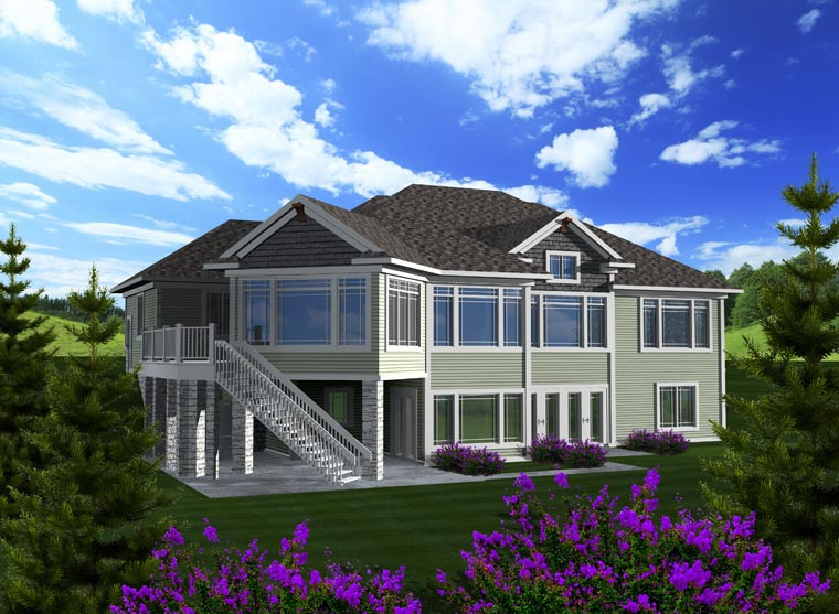 Ranch House Plan 96118 Rear Elevation