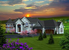 House Plan 96119 with 4 Beds, 5 Baths, 4 Car Garage Elevation