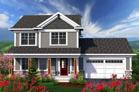 Traditional House Plan 96121 with 3 Beds, 3 Baths, 2 Car Garage Elevation