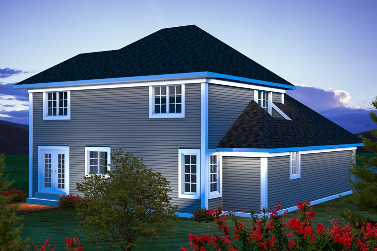 Traditional House Plan 96124 Rear Elevation