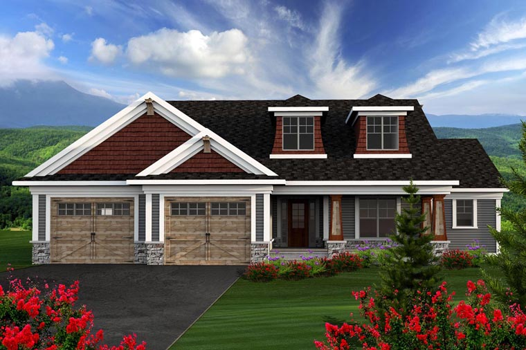 Ranch House Plan 96125 Elevation