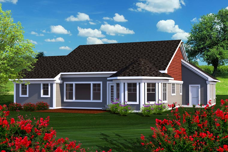 Ranch House Plan 96125 Rear Elevation