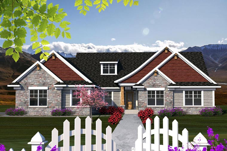 Ranch Elevation of Plan 96129