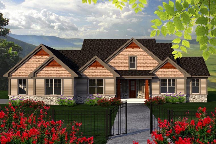 Traditional House Plan 96130 with 3 Beds, 3 Baths, 3 Car Garage Elevation