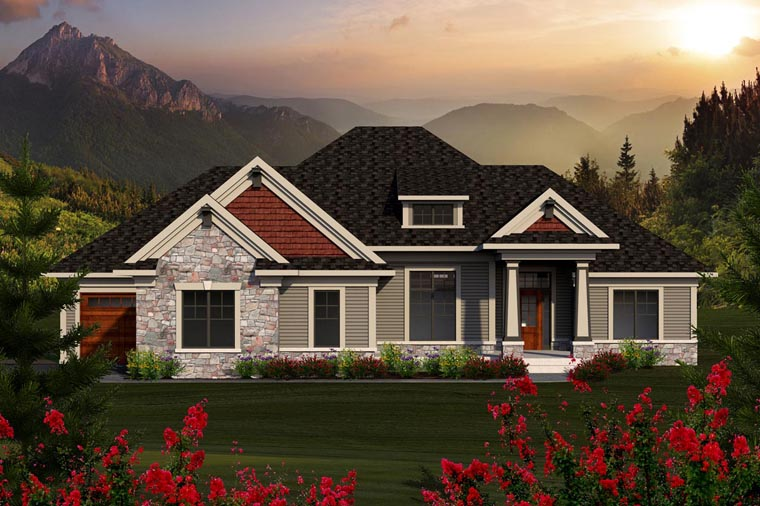 House Plan 96131 | Ranch Style Plan with 2291 Sq Ft, 3 Bedrooms, 2 Bathrooms, 3 Car Garage Elevation