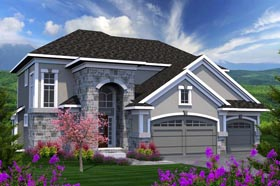 House Plan 96132 | Traditional Style Plan with 2330 Sq Ft, 3 Bedrooms, 3 Bathrooms, 3 Car Garage Elevation