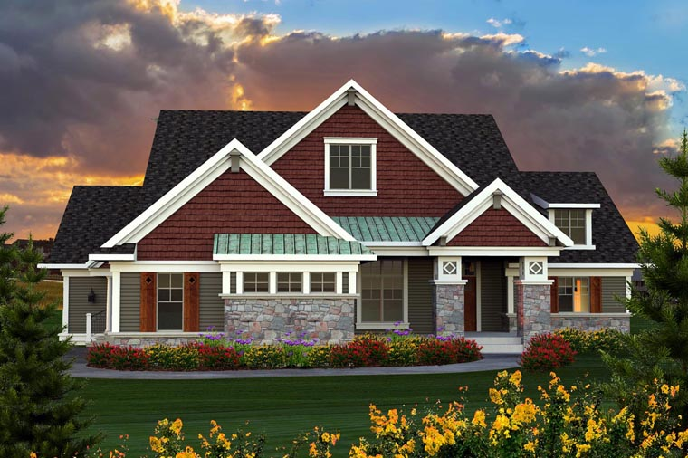 Ranch House Plan 96133 Elevation