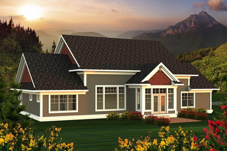 Ranch House Plan 96133 Rear Elevation