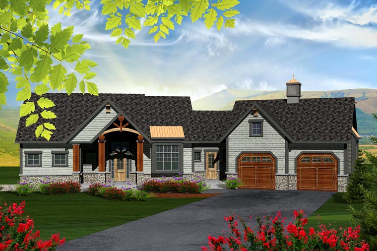 Ranch House Plan 96134 Elevation