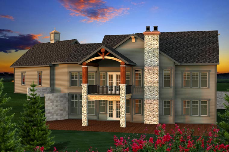 Ranch House Plan 96134 Rear Elevation
