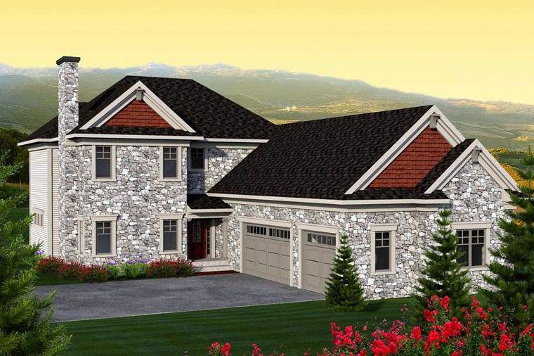 Traditional House Plan 96135 with 3 Beds, 3 Baths, 3 Car Garage Elevation