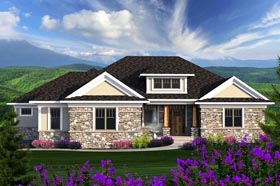 Ranch House Plan 96136 Elevation