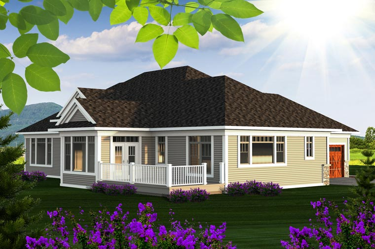Ranch House Plan 96136 Rear Elevation