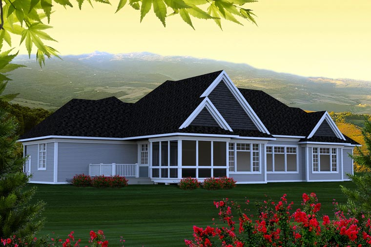 Ranch House Plan 96137 Rear Elevation