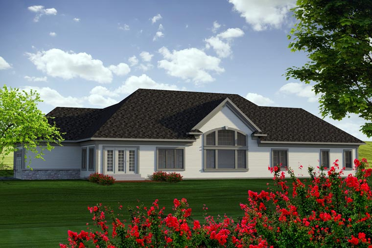 Ranch House Plan 96138 Rear Elevation