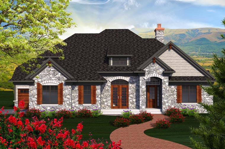 Traditional House Plan 96140 Elevation