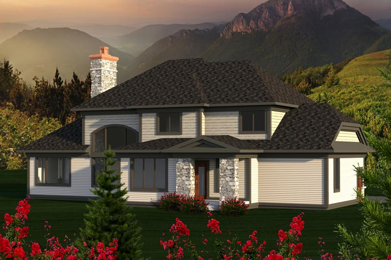 Traditional House Plan 96140 Rear Elevation