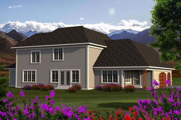Traditional House Plan 96143 Rear Elevation