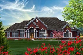 Ranch House Plan 96144 Elevation