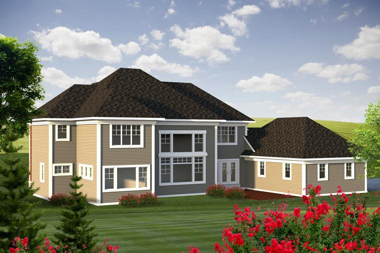 Traditional House Plan 96145 Rear Elevation
