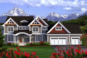 House Plan 96146 | Traditional Style Plan with 3660 Sq Ft, 5 Bedrooms, 4 Bathrooms, 3 Car Garage Elevation