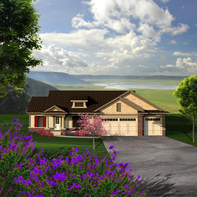 Ranch , Elevation of Plan 96147