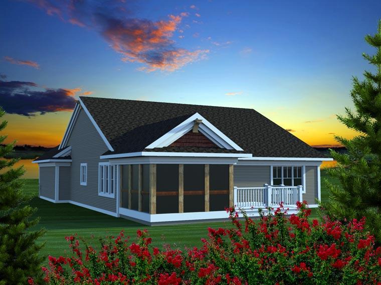 Ranch House Plan 96151 Rear Elevation