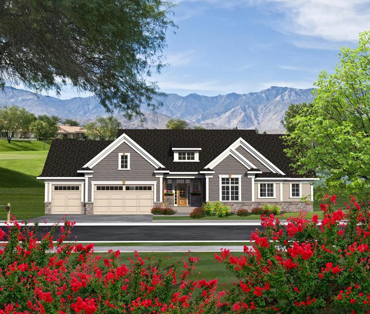 Ranch House Plan 96154 Elevation