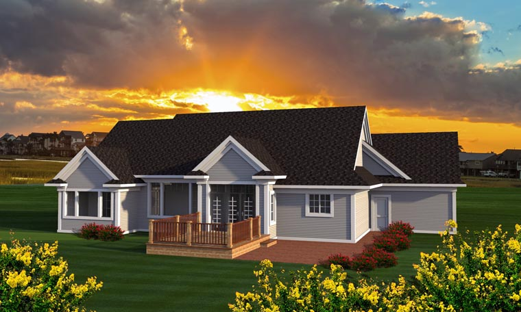 Ranch House Plan 96154 Rear Elevation